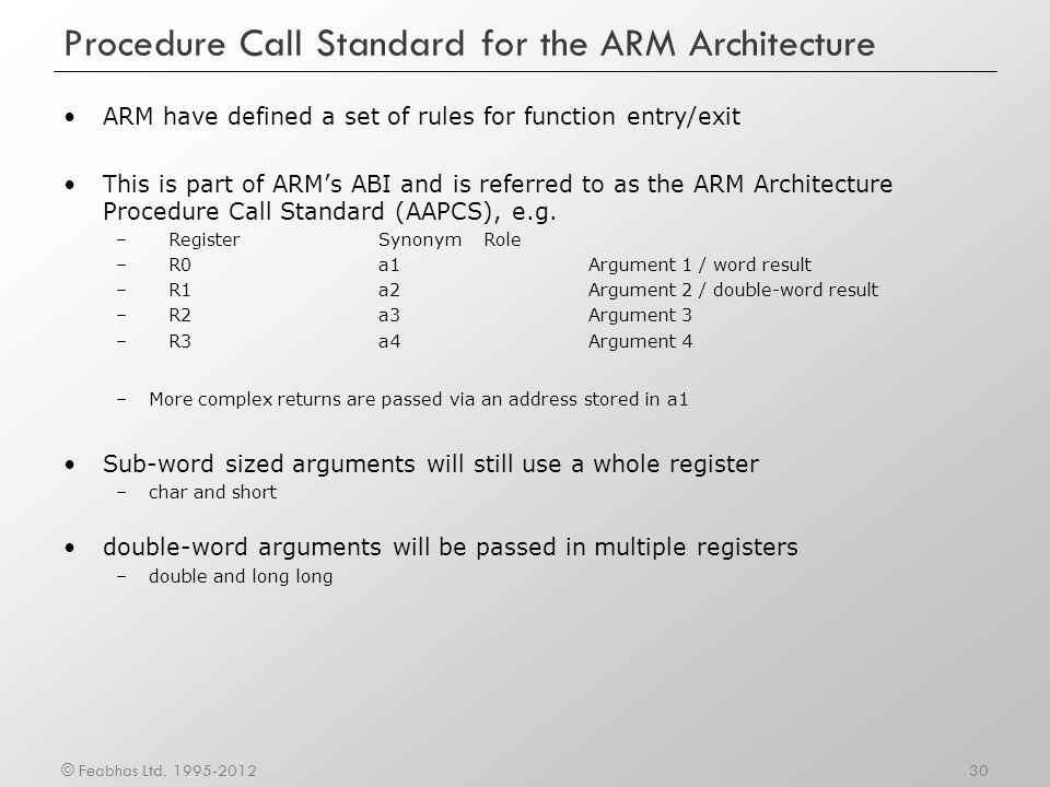 Procedure Call Standard for the ARM Architecture