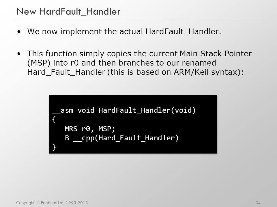 New HardFault_Handler