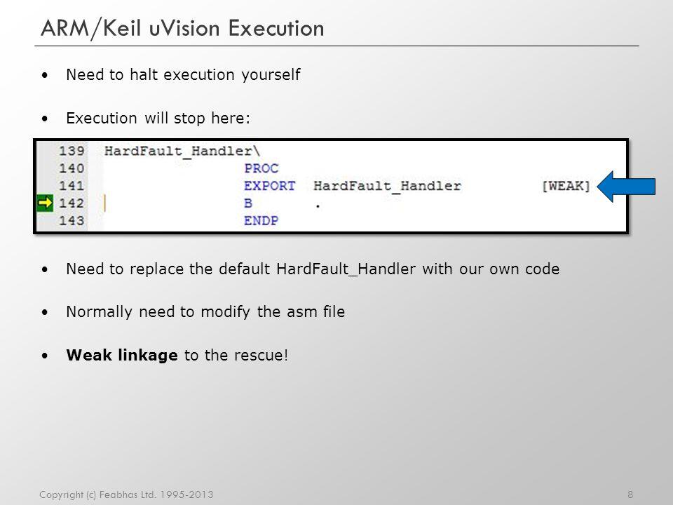 ARM/Keil uVision Execution
