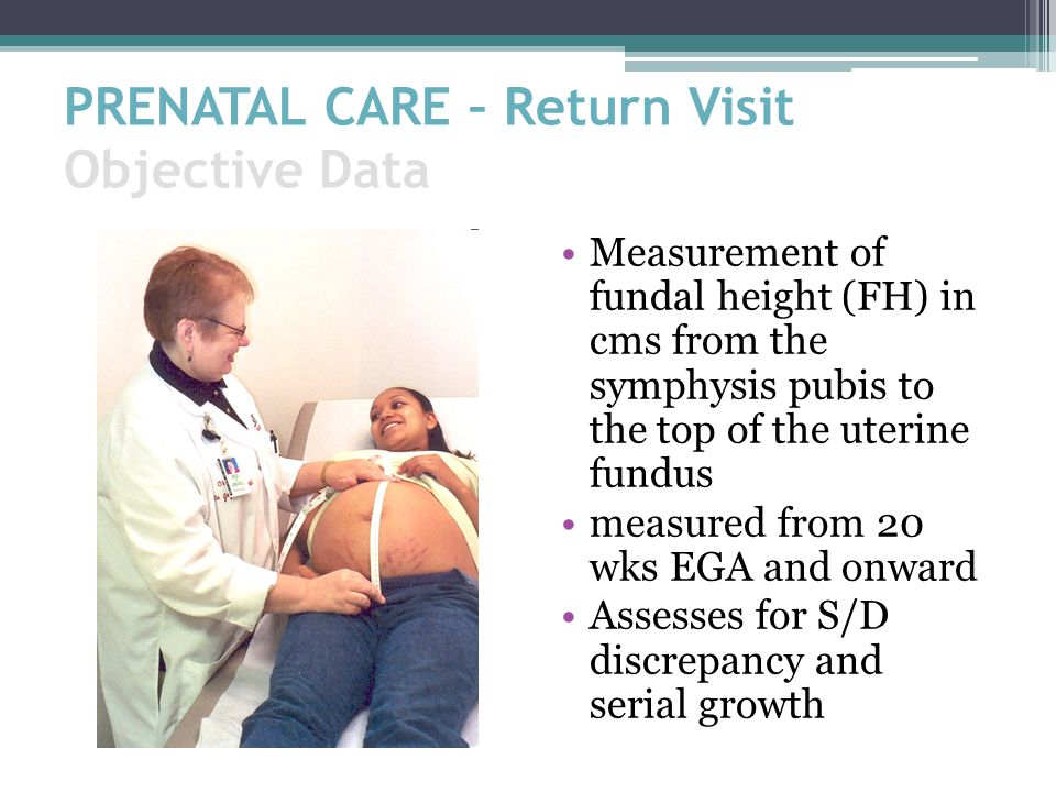 PRENATAL CARE – Return Visit Objective Data