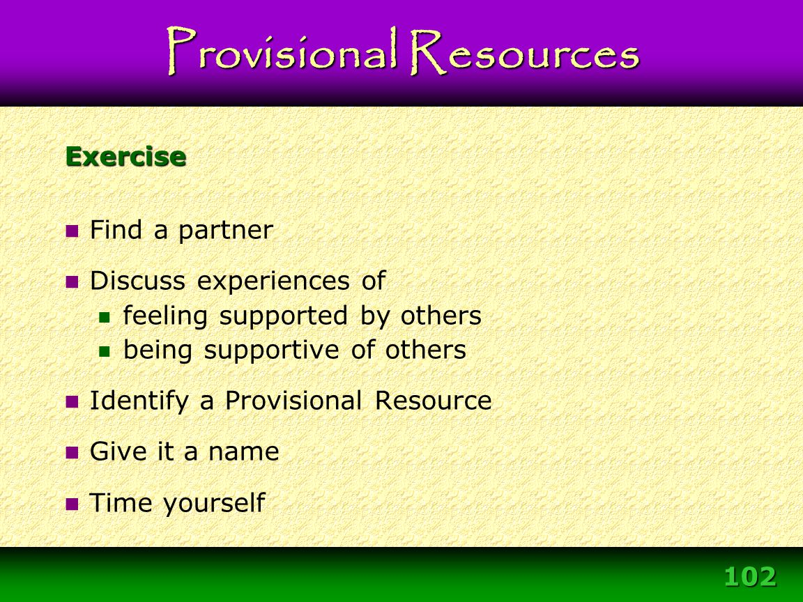Provisional Resources