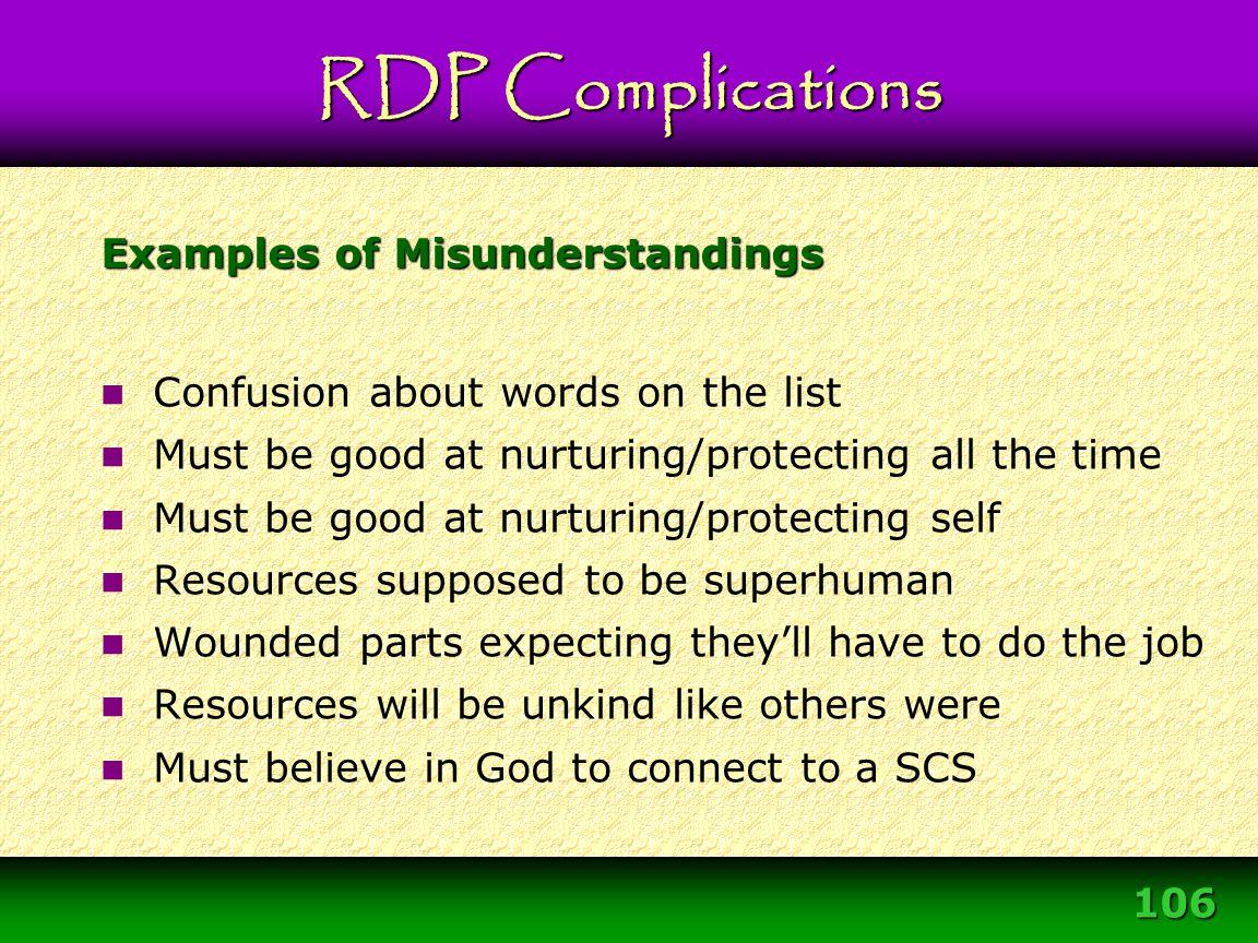 Examples of Misunderstandings