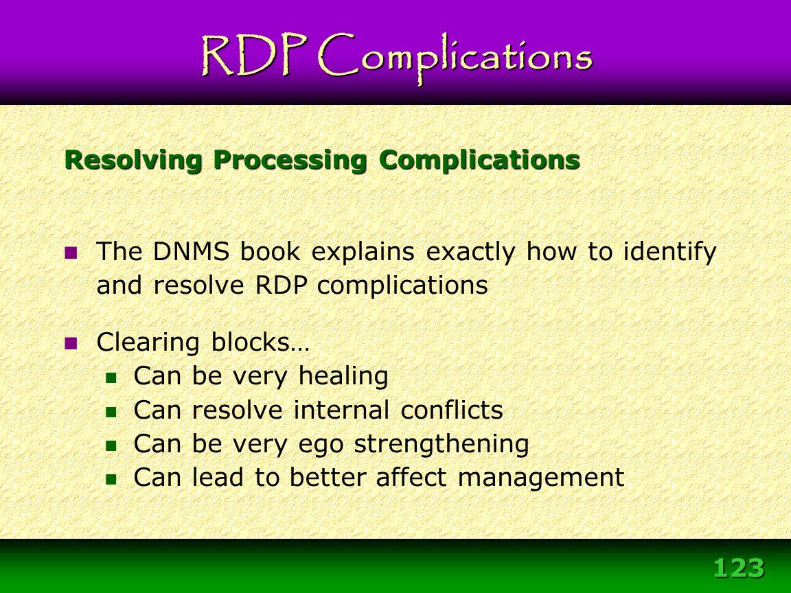 Resolving Processing Complications