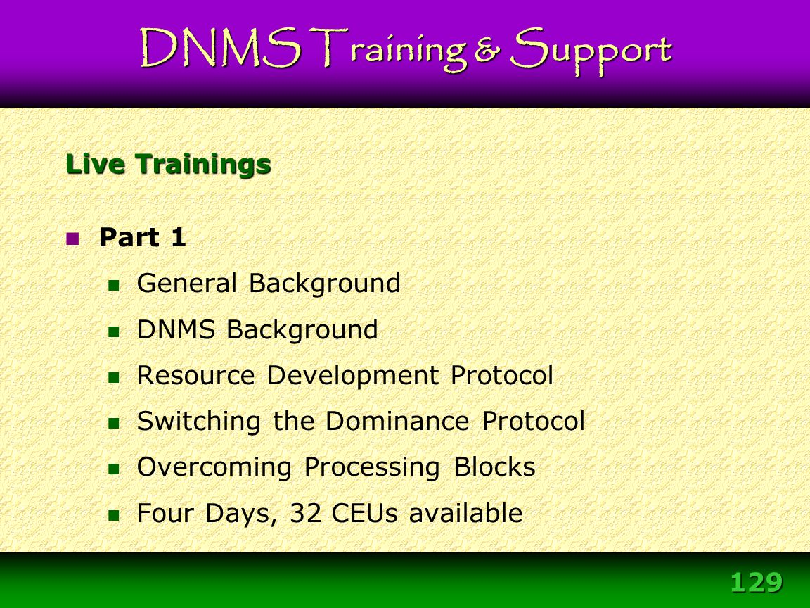 Module 3 – DNMS Resource Development Protocol 129