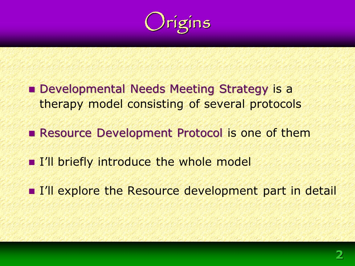 Module 3 – DNMS Resource Development Protocol 2