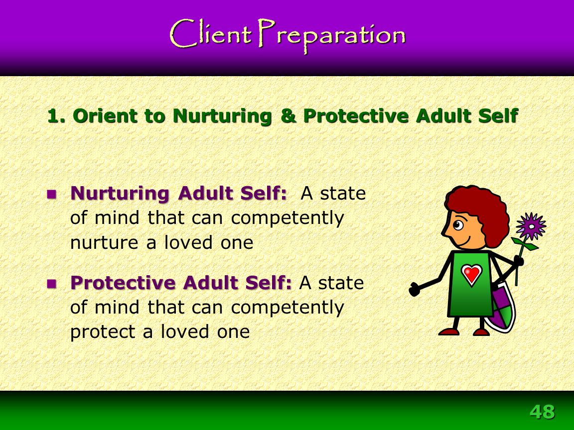 1. Orient to Nurturing & Protective Adult Self