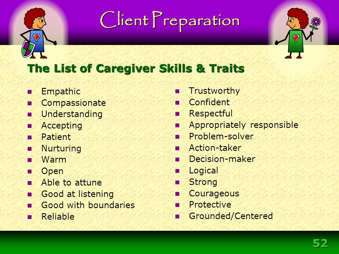 The List of Caregiver Skills & Traits