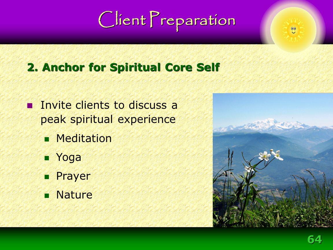 2. Anchor for Spiritual Core Self