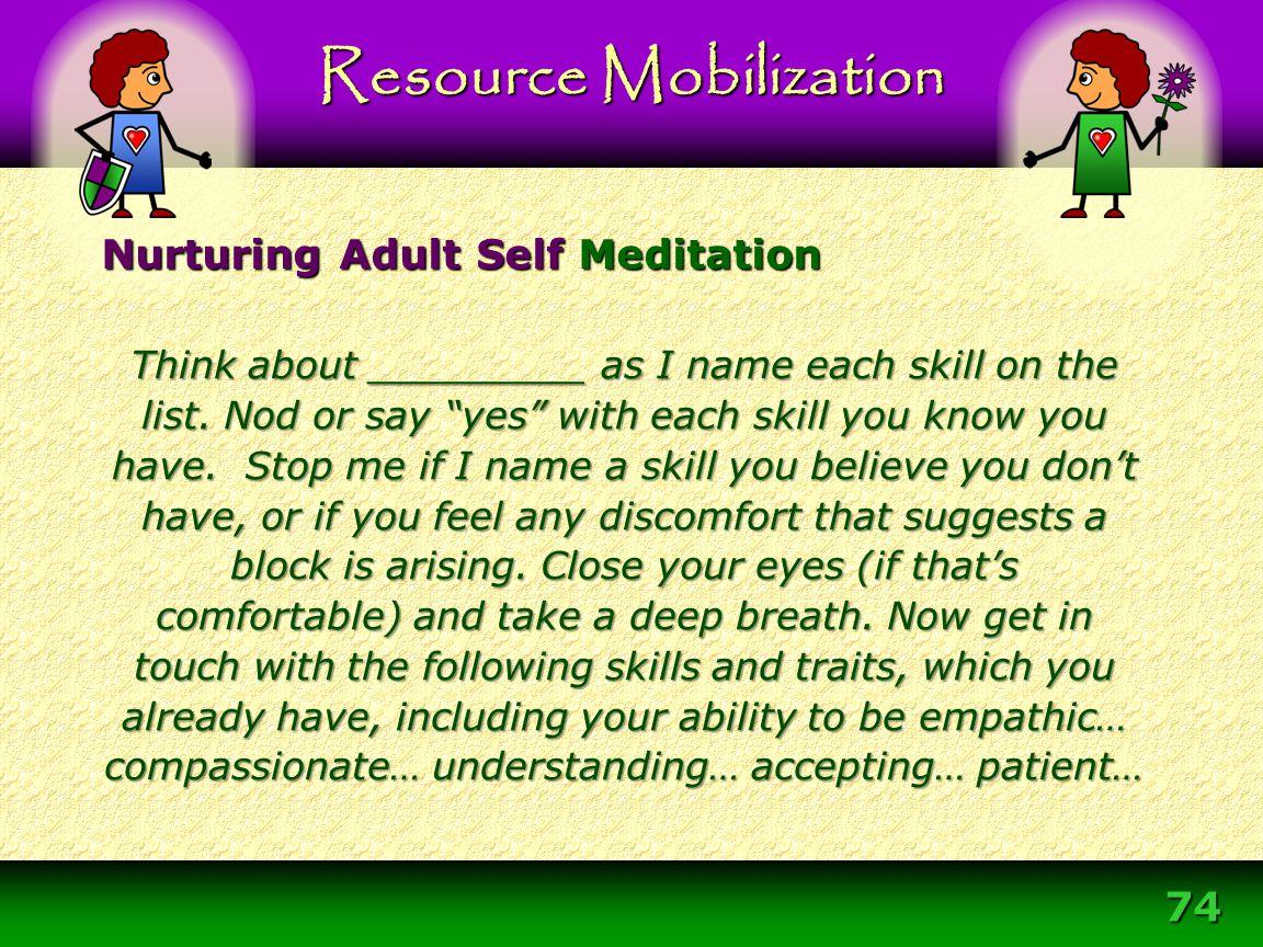 Nurturing Adult Self Meditation