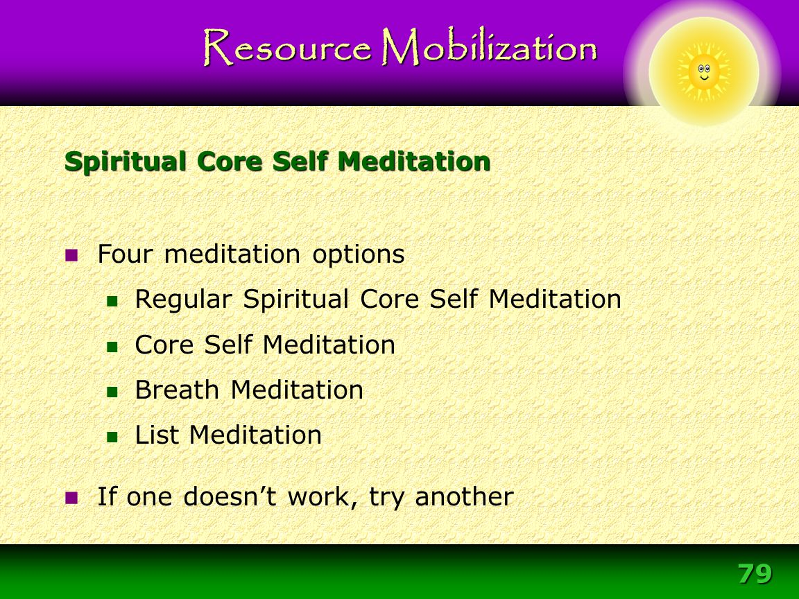 Spiritual Core Self Meditation