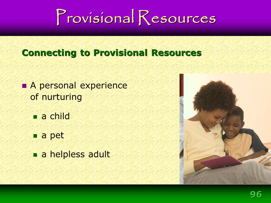 Connecting to Provisional Resources