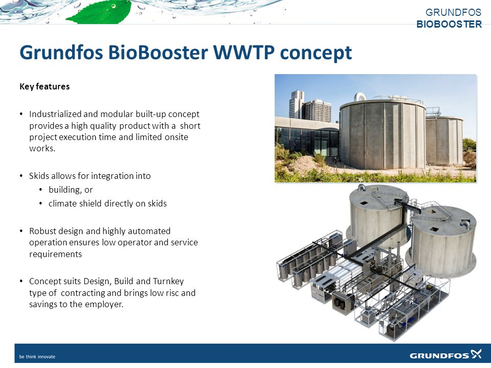 Grundfos BioBooster WWTP concept