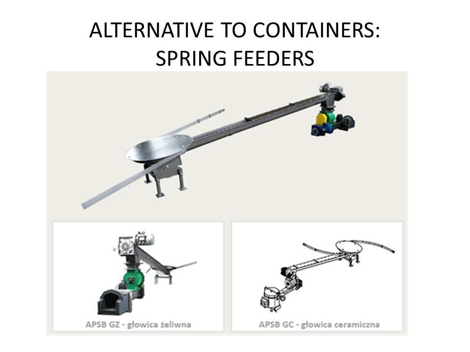 ALTERNATIVE TO CONTAINERS: SPRING FEEDERS