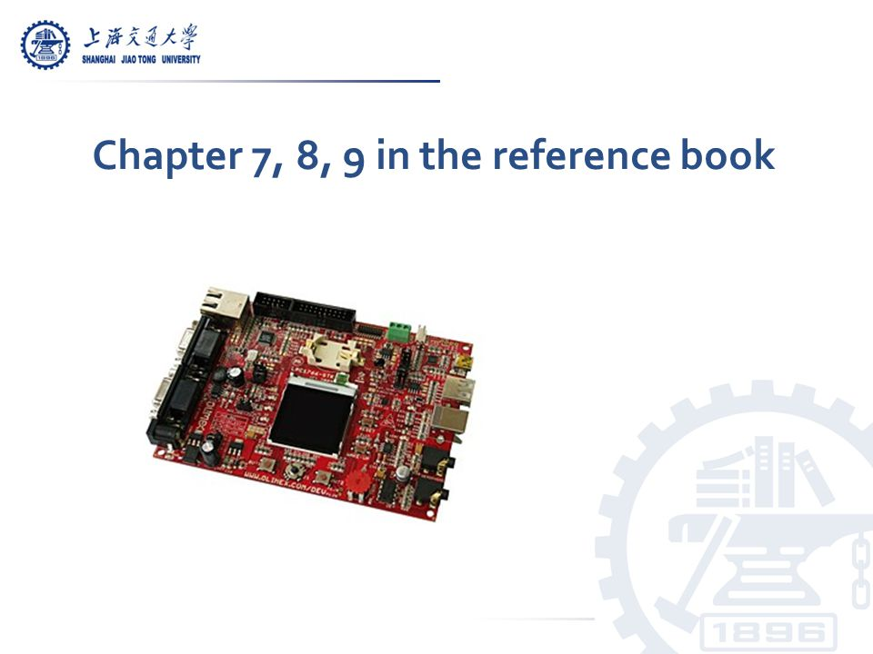 Chapter 7, 8, 9 in the reference book
