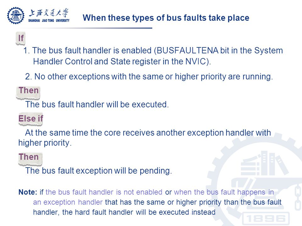 When these types of bus faults take place