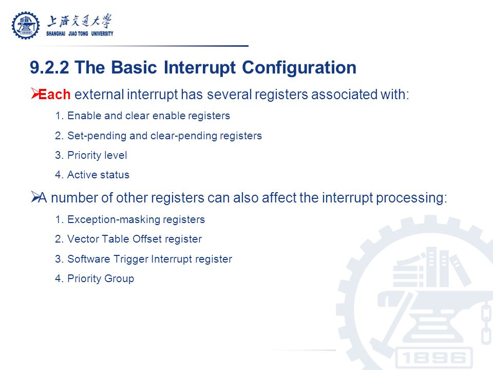 9.2.2 The Basic Interrupt Configuration