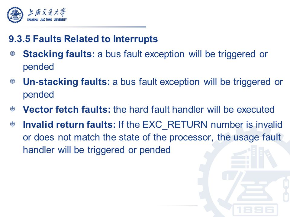 9.3.5 Faults Related to Interrupts