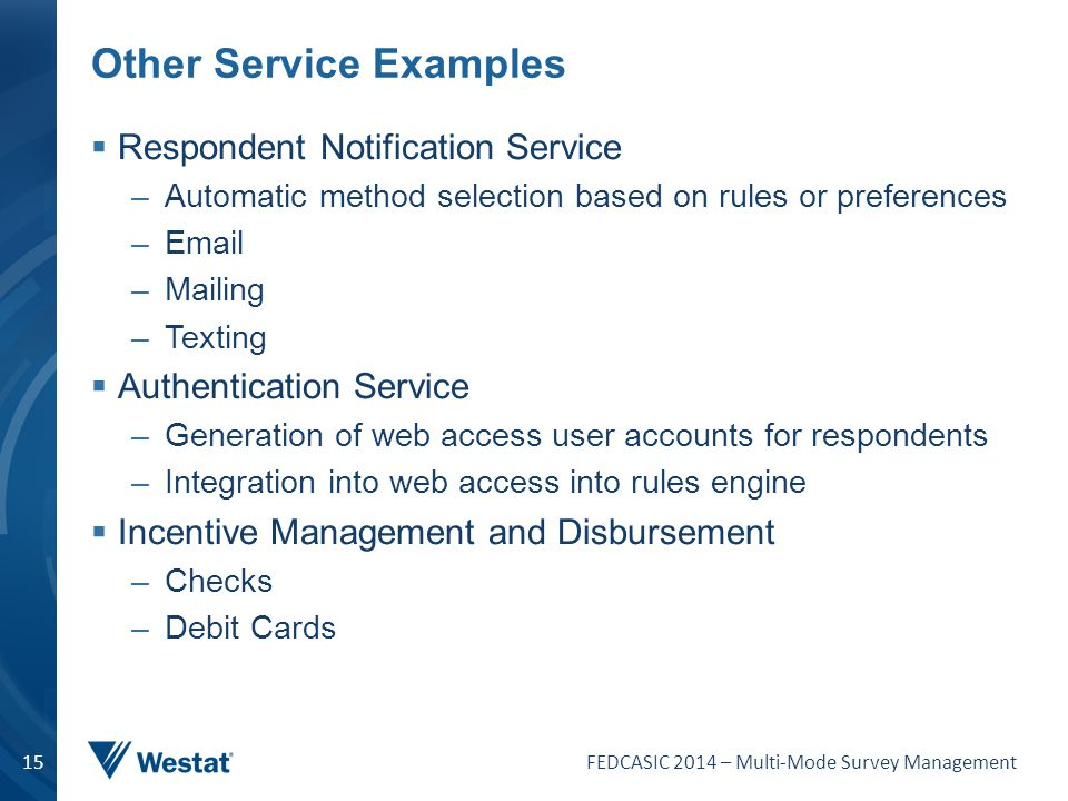 Other Service Examples