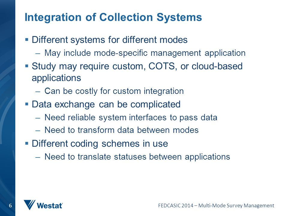 Integration of Collection Systems
