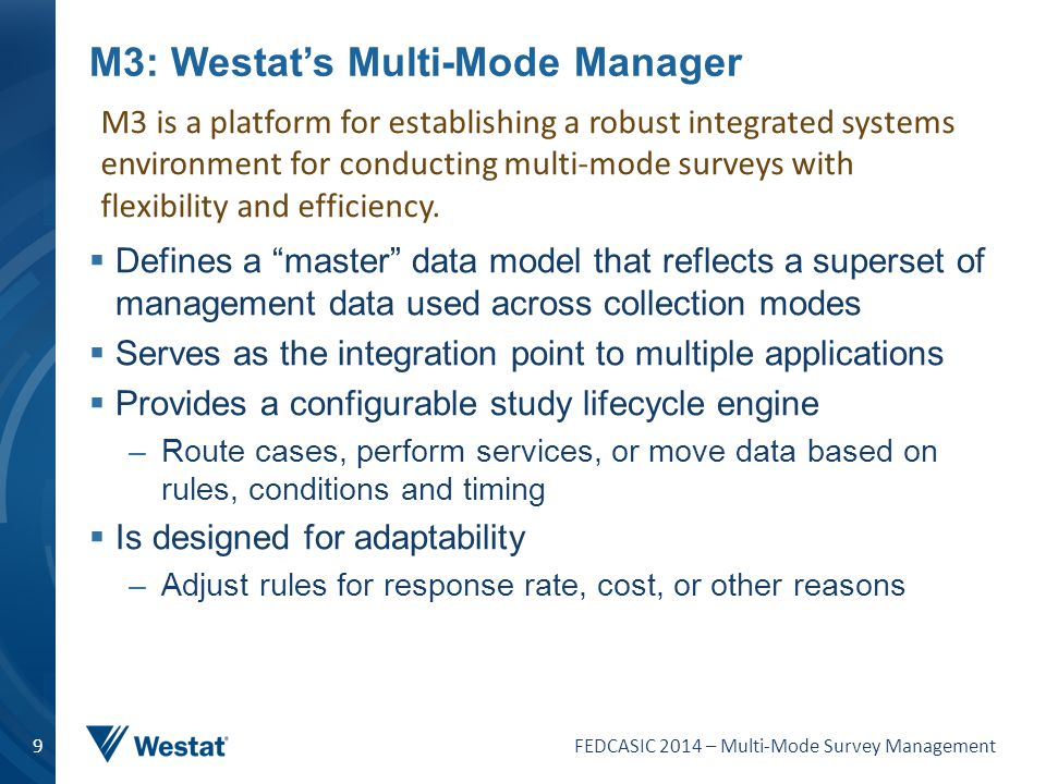 M3: Westat's Multi-Mode Manager