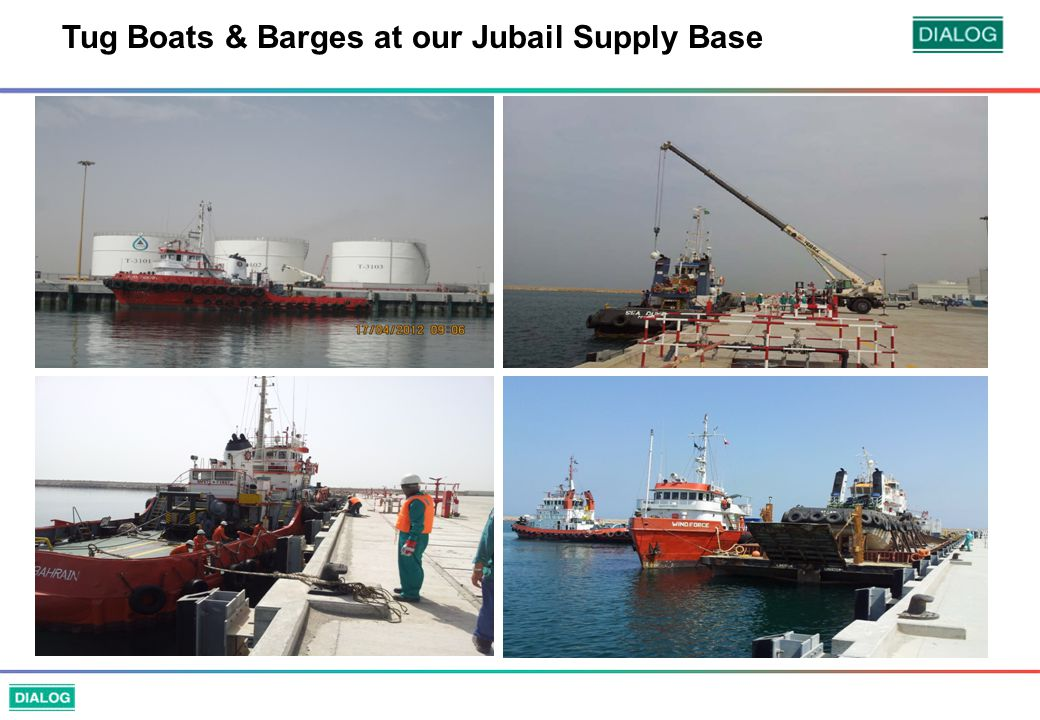 Tug Boats & Barges at our Jubail Supply Base