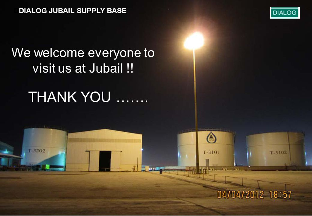 DDIALOG JUBAIL SUPPLY BASE