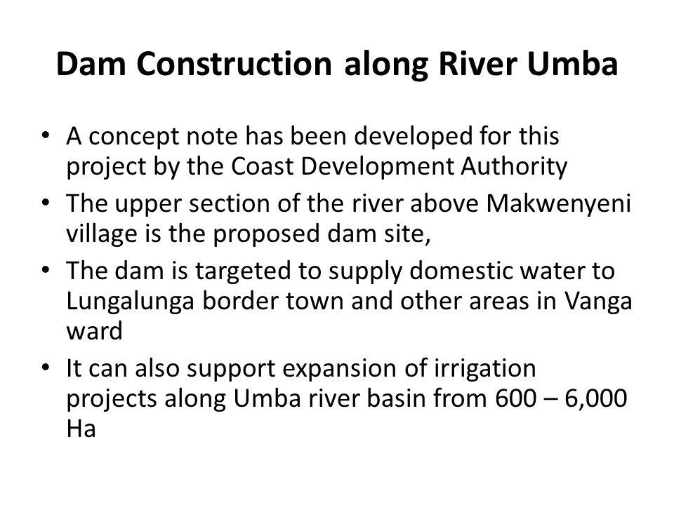 Dam Construction along River Umba