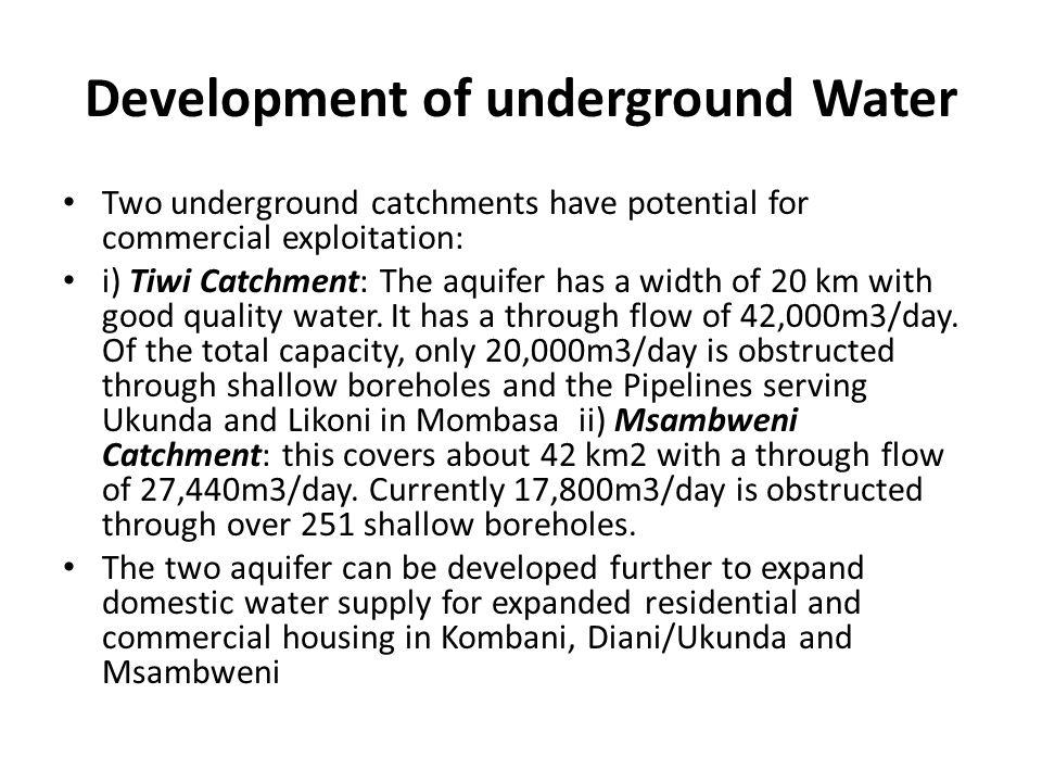 Development of underground Water