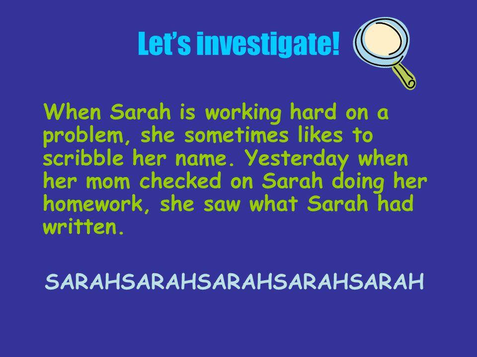 SARAHSARAHSARAHSARAHSARAH