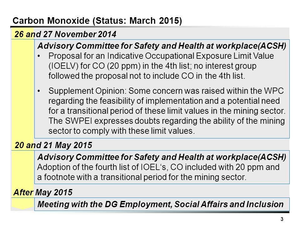 Carbon Monoxide (Status: March 2015)