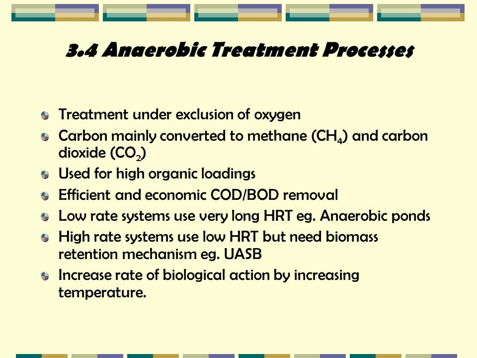 3.4 Anaerobic Treatment Processes