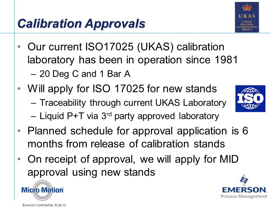 Calibration Approvals