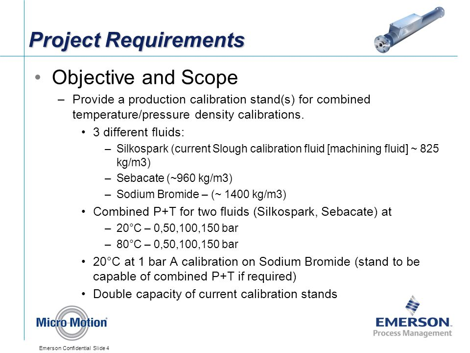 Project Requirements Objective and Scope