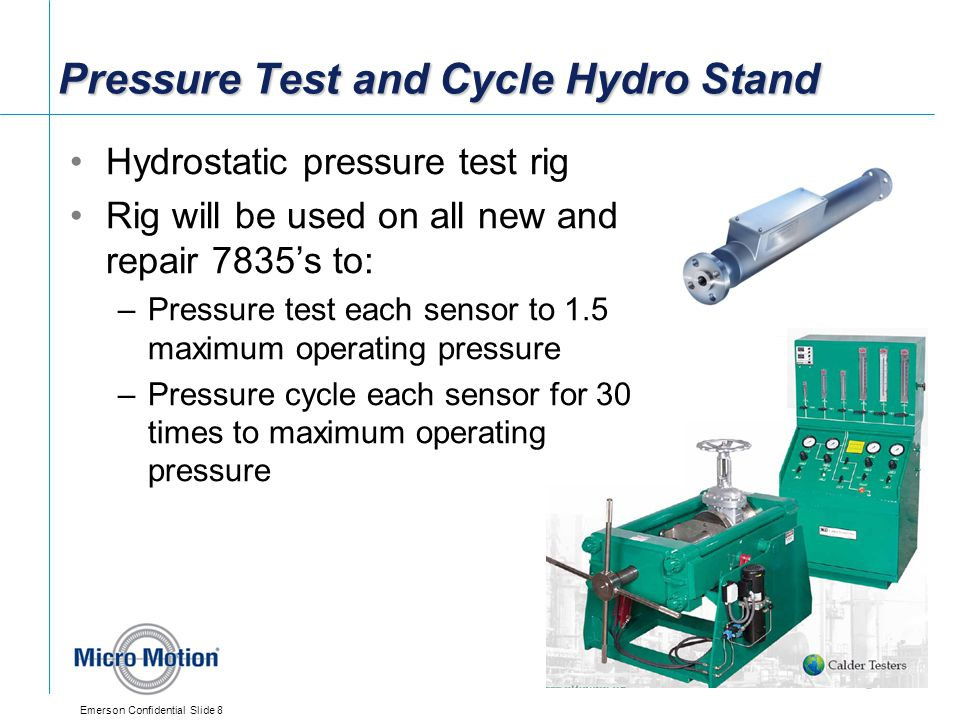 Pressure Test and Cycle Hydro Stand