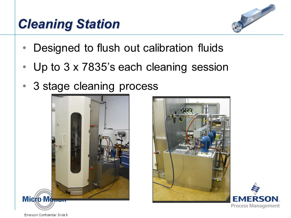 Cleaning Station Designed to flush out calibration fluids