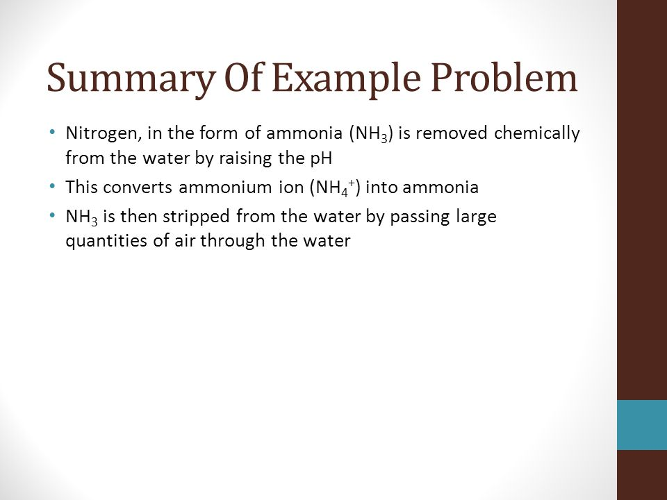 Summary Of Example Problem