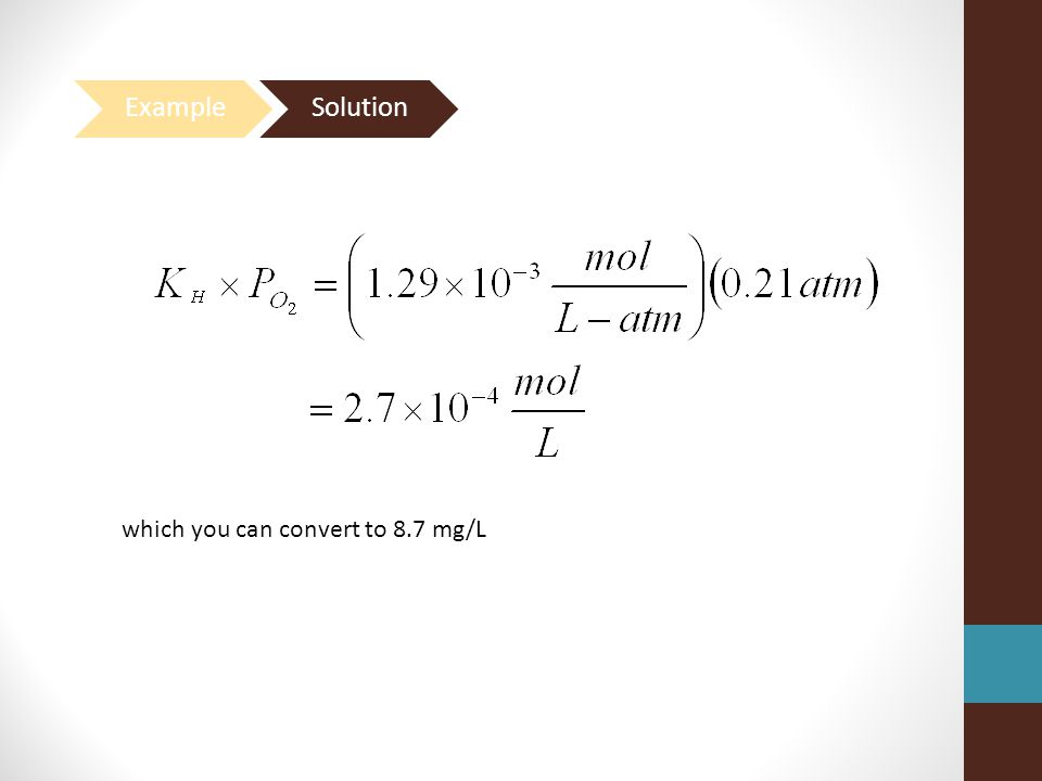 Example Solution which you can convert to 8.7 mg/L