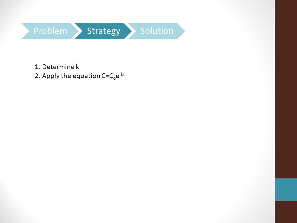 Problem Strategy Solution 1. Determine k