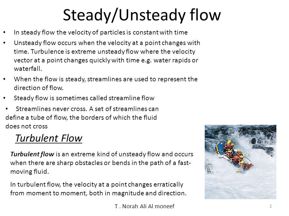 Steady/Unsteady flow Turbulent Flow