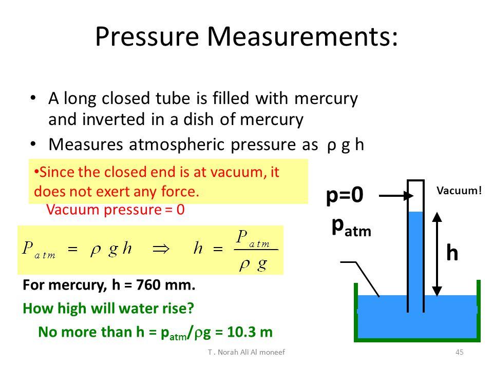 Pressure Measurements: