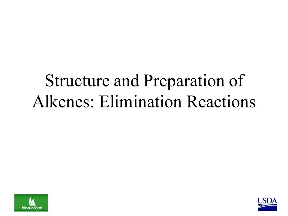 Structure and Preparation of Alkenes: Elimination Reactions