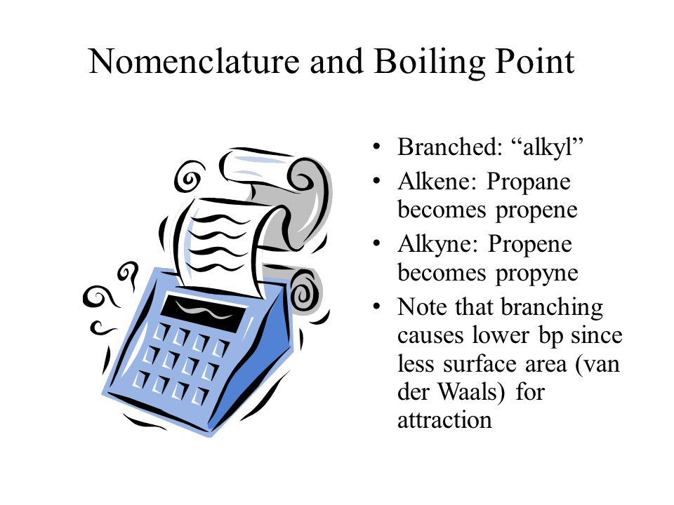 Nomenclature and Boiling Point