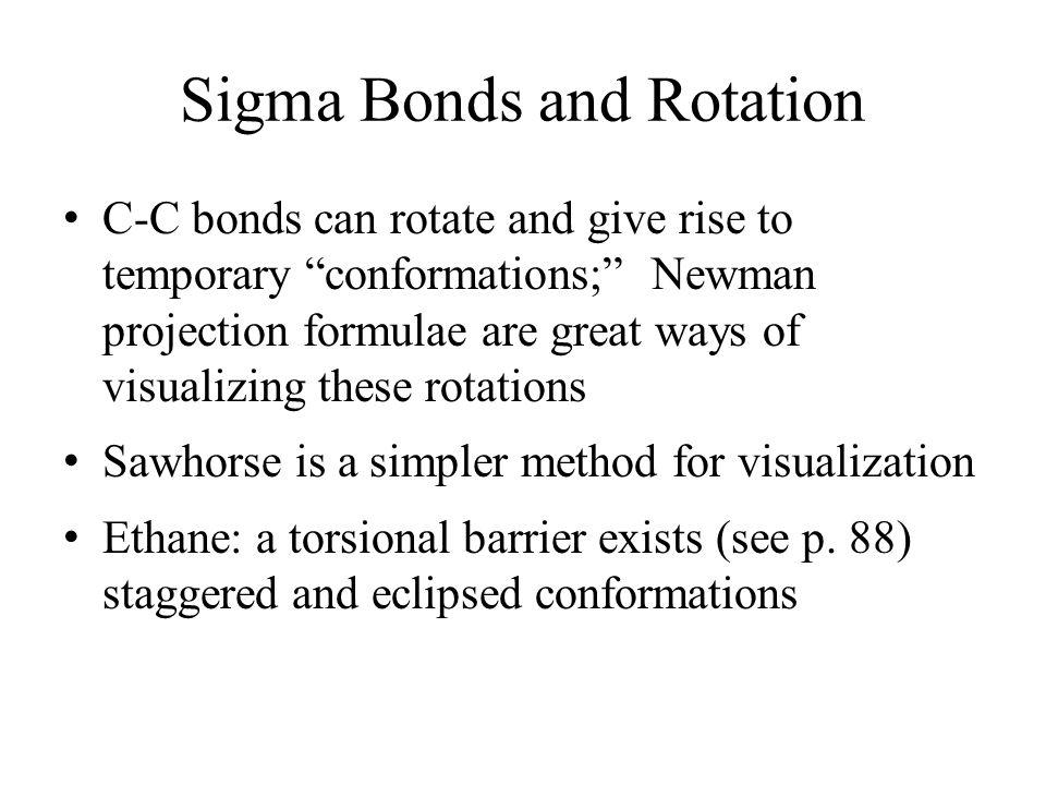 Sigma Bonds and Rotation