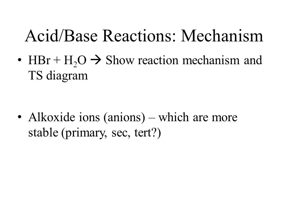 Acid/Base Reactions: Mechanism
