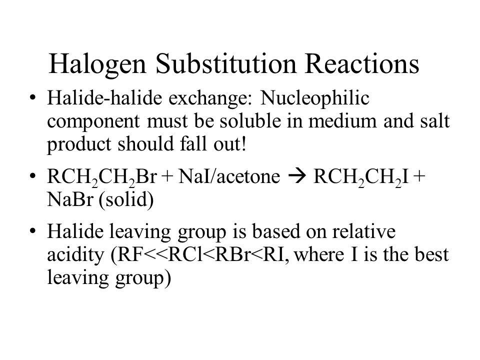 Halogen Substitution Reactions