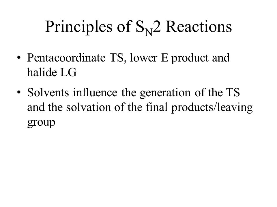 Principles of SN2 Reactions