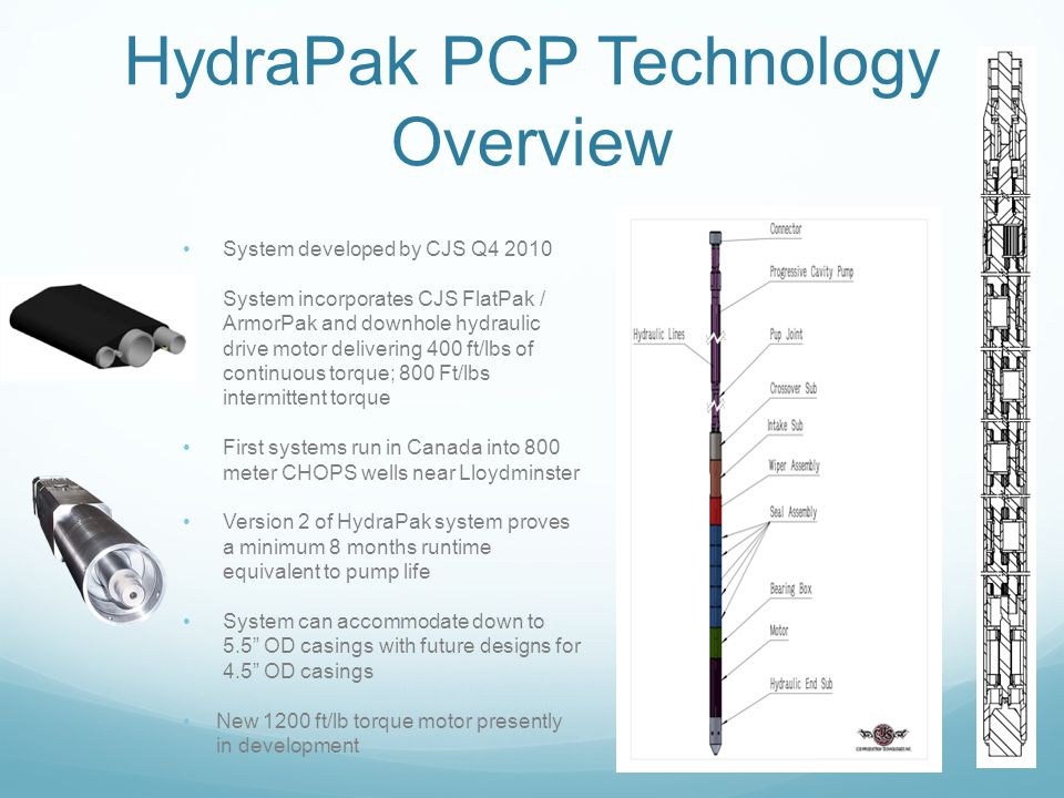 HydraPak PCP Technology Overview