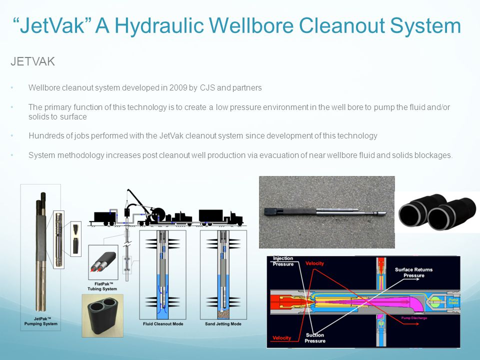 JetVak A Hydraulic Wellbore Cleanout System