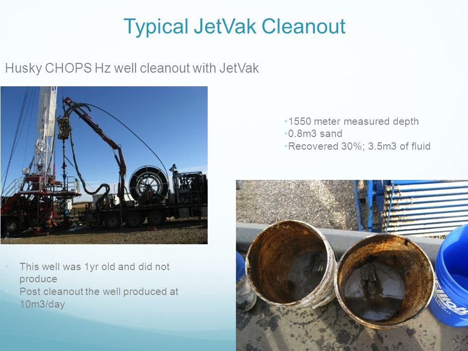 Typical JetVak Cleanout
