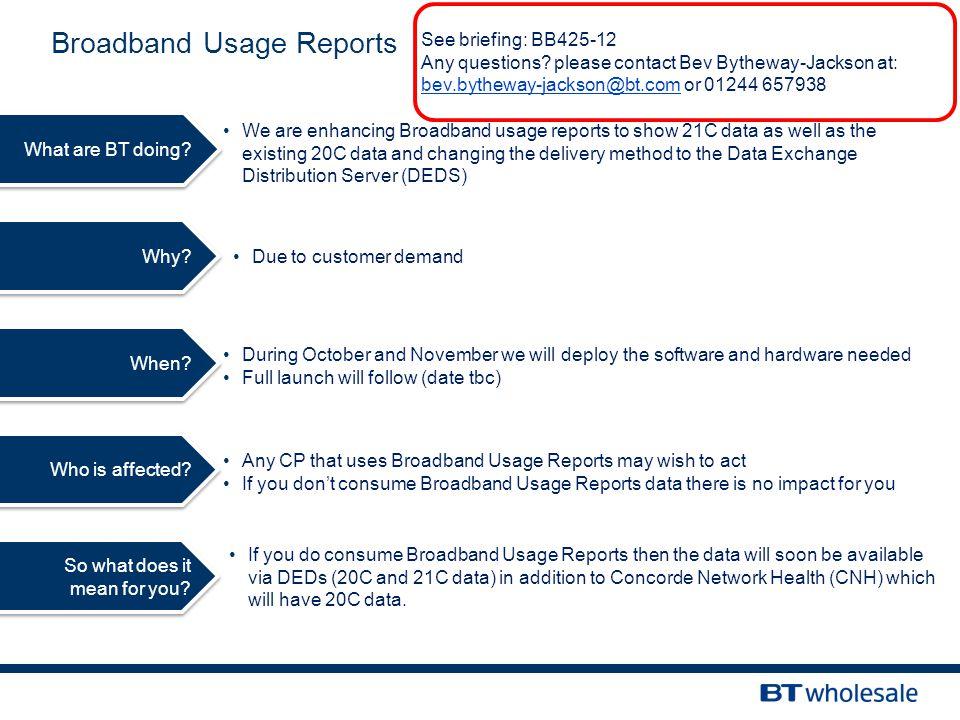 Broadband Usage Reports